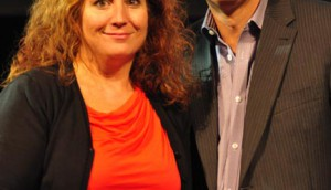 Last year's winner Sheri Metcalfe of Jungle Media with Andrew Saunders of the Globe and Mail.