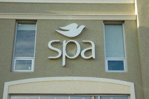 Dove Spa's old look with the Dove bird is now replaced with the Dove cursive script, in a move to more closely align the spa with the Dove brand.