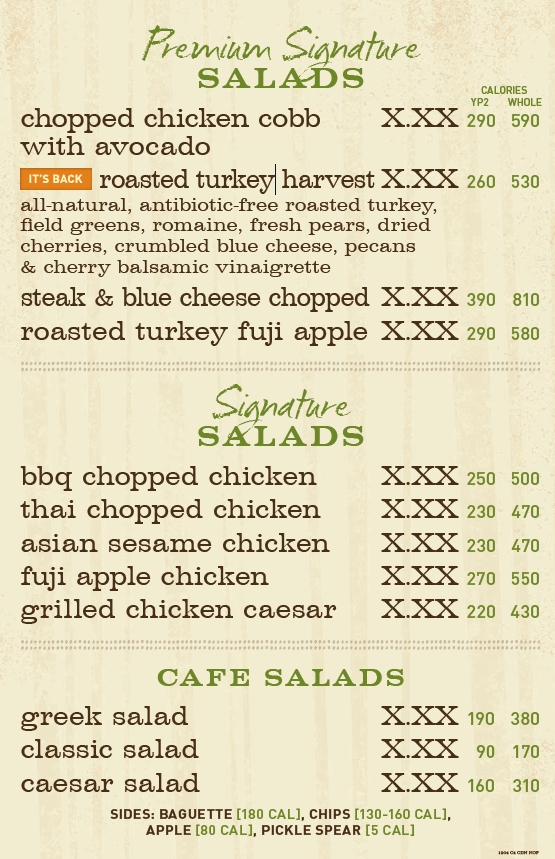 picture about Panera Printable Menu identified as Panera bread on the web menu / coupon codes