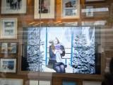 The Samsung-sponsored ski lift photo-booth streams through the window display