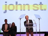 Angus Tucker, partner and ECD at John St., which won AOY Gold, gives a brief acceptance speech.