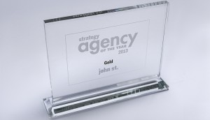 John St's 2013 Gold AOY trophy