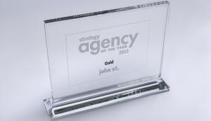 John St's 2013 Gold AOY trophy