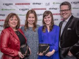 The Saatchi & Saatchi and Tourette Syndrome Foundation of Canada pose with their trophies
