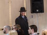 James Spader made a (cardboard) appearance at Shaw's upfront