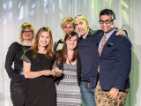 """Grand Prix winners from Saatchi & Saatchi collect their prize for the Tourette Syndrome Foundation of Canada's """"Surrender Your Say"""""""
