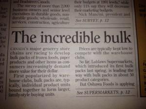 Incredible bulk