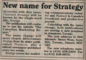 TT Strategy name