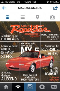Mazda Instagram Aug 2014