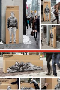homeless donation box