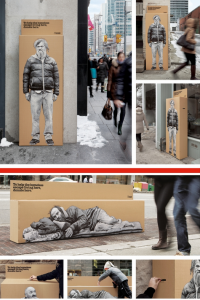 homeless donation box