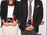 Eve-Marie Boutet and Thomas Nelligan from Cossette take a moment of silence after winning Gold for Amnesty International Canada .