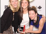 Meghan Edwards, Lianne Pitts and Jennifer Britton from North Strategic, which won for Sport Chek.