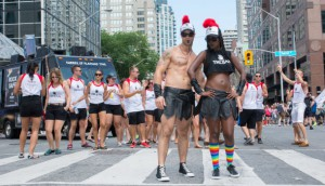 "Trojan ""Rocked Hard"" at WorldPride with consumers along the parade route with their ""Rock Safe"" messaging."