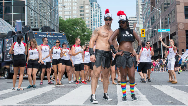 """Trojan """"Rocked Hard"""" at WorldPride with consumers along the parade route with their"""