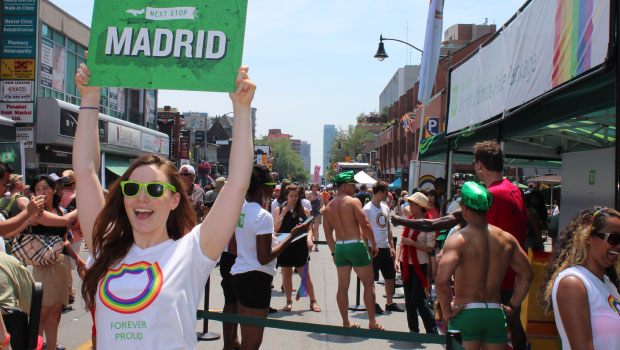 Next Stop Madrid! TD invited Pride attendees to travel Rainbow Class for the chance to win a trip to the upcoming World Pride celebration.