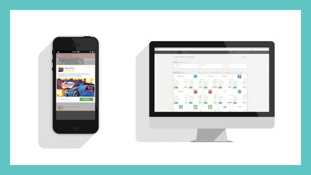 LEFT: JUICE Mobile recently partnered with Twitter's MoPub exchange to offer programmatic native  app advertising through the MoPub Marketplace.  RIGHT: Nectar™, JUICE Mobile's programmatic direct (aka automated guaranteed) platform for mobile.