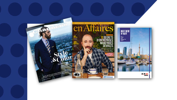 Professionally produced content marketing, such as these magazines produced with the Globe and Mail's Custom Content Group, is on the rise.
