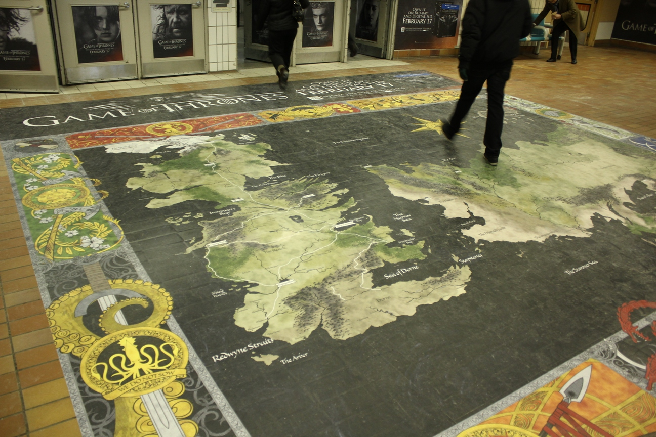 Check it out hbo maps out an activation strategy a takeover of union station is immersing new viewers and old fans alike in the world of game of thrones gumiabroncs Gallery