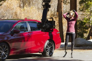 SB Camry Commercial_Amy Purdy on set