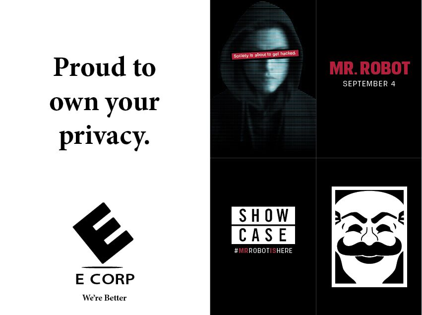 Copied from Media in Canada - Mr. Robot campaign