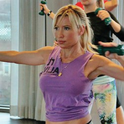 """Samsung's """"Gear Fit"""" launch brought on celeb fitness expert Tracy Anderson for a media push."""