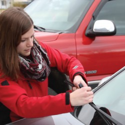 Canadian Tire handed out 1,000 wiper blades in Terrace B.C., one of Canada's rainiest cities.