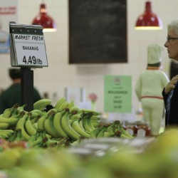AEQUITAS used hidden cameras and bananas to demo the practice of high frequency trading. When someone tried to buy a banana, the price went up, just like the real stock market.