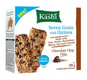 Kashi Seven Grain with Quinoa Crunchy Bars. - Choc Chip Chia