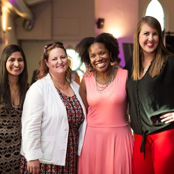 "Coke's Shelly Walia, Caron Watt, Melanie Isaac and Beth MacGibbon before picking up a Silver for the ""Style Bar."""