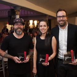 Jean-Simon Charland, Mélissa Desrosiers and Olivier Charbonneau of Cossette.