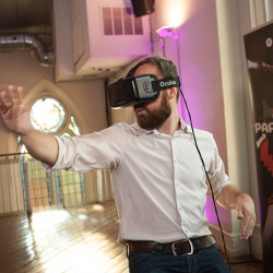 A VR installation, provided by Globacore and The Taylor Group, engaged the crowd.