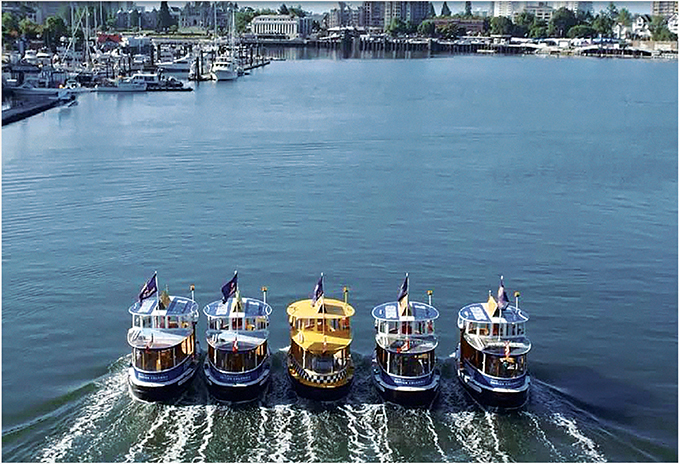 The shop created a new medium by wrapping water taxis in Victoria Harbour with messaging for the