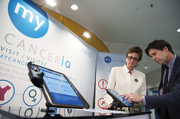 Cancer Care Ontario's My Cancer IQ (a tool that helps people determine their cancer risk) was promoted with the help of health minister Eric Hoskins, who showcased the tool at events.