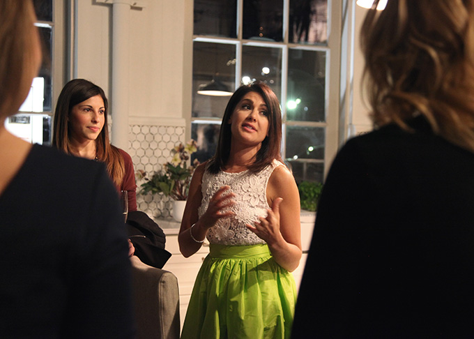Interior decorator and TV host Jillian Harris talked with guests as part of the Ikea House of Kitchens influencer program.