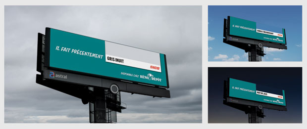 Reno-Depot, Sico, Sid Lee and Astral teamed up to create this campaign, which tracked the colour of the sky in real time and matched it with a Sico paint colour.