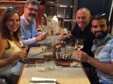 Cundari's Aldo Cundari and Samsung's Mark Childs toast Canada's Lion winning Young Marketer Lexus team, Olena and Christian.