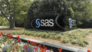 SAS entrance and signage