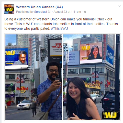 Social Engagement Exaple - Selfie of Selfie
