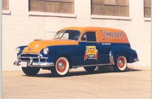 1950-_Sales_promotion_van_Chevy_Sedan_Delivery_-refurbished