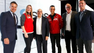 Canadian Olympic Committee partnership announcement with SAS