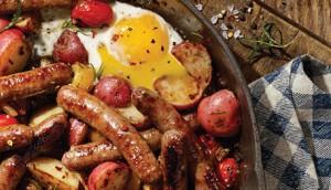 roasted_potato_egg_tomato_sausage_skillet