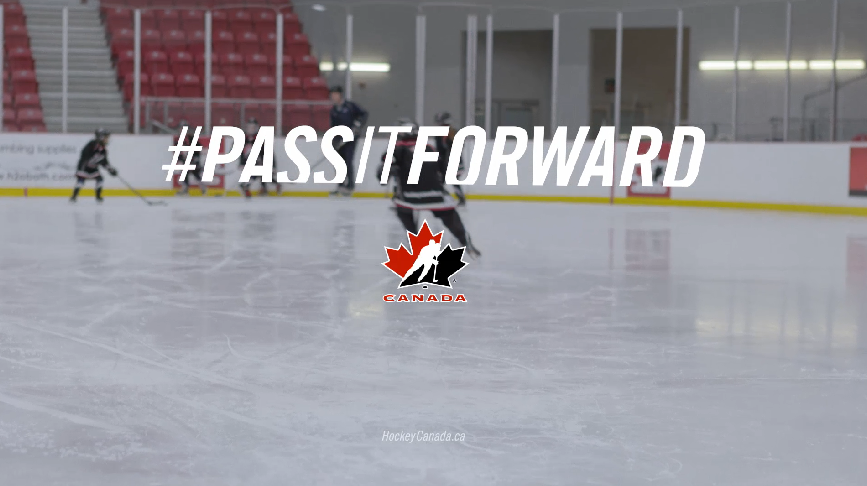123w created the 'Pass It Forward' TV campaign for Hockey Canada to encourage families to enroll children in hockey programs.