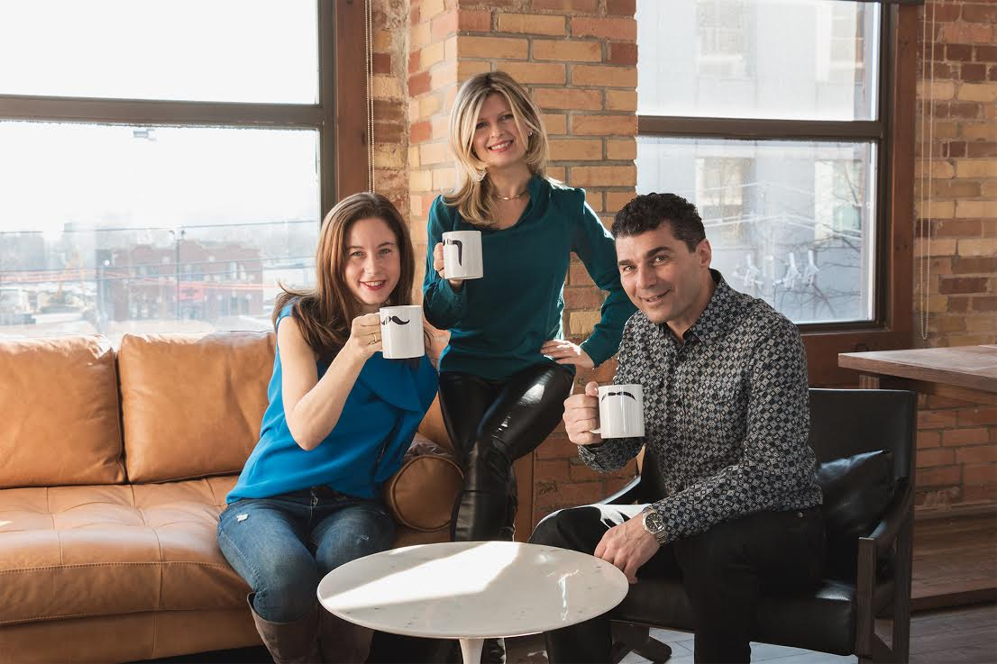The G&G co-founders: co-creative directors Alanna Nathanson and Natalie Armata and Gino Cantalini, chief strategy officer.