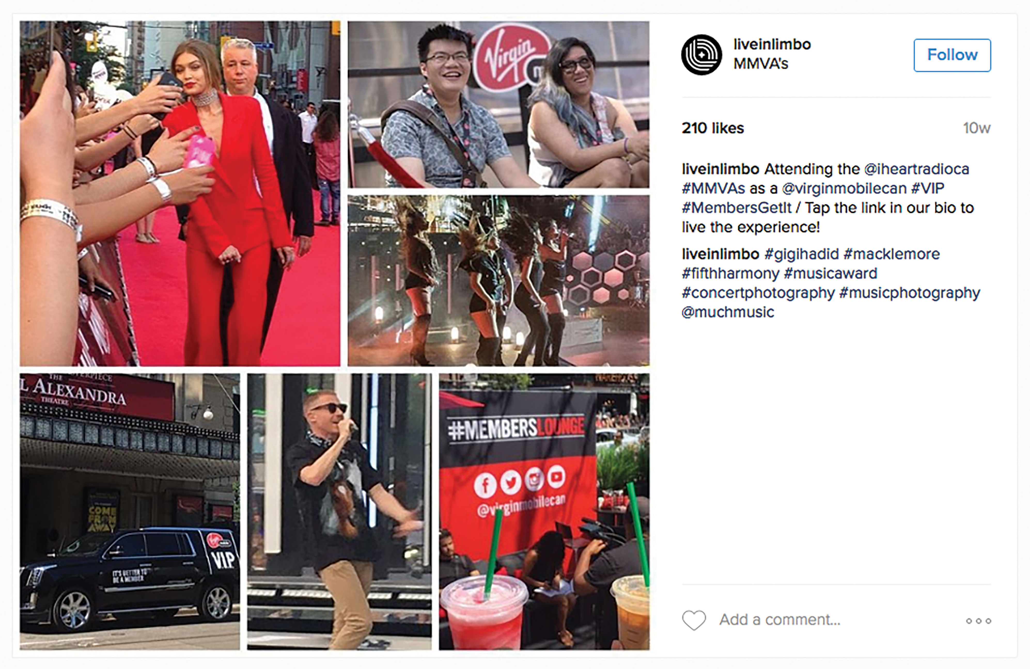 To maximize its sponsorship reach of the MuchMusic Video Awards, Virgin and High Road created a 360, realtime content studio to roll out content from all aspects of the event.
