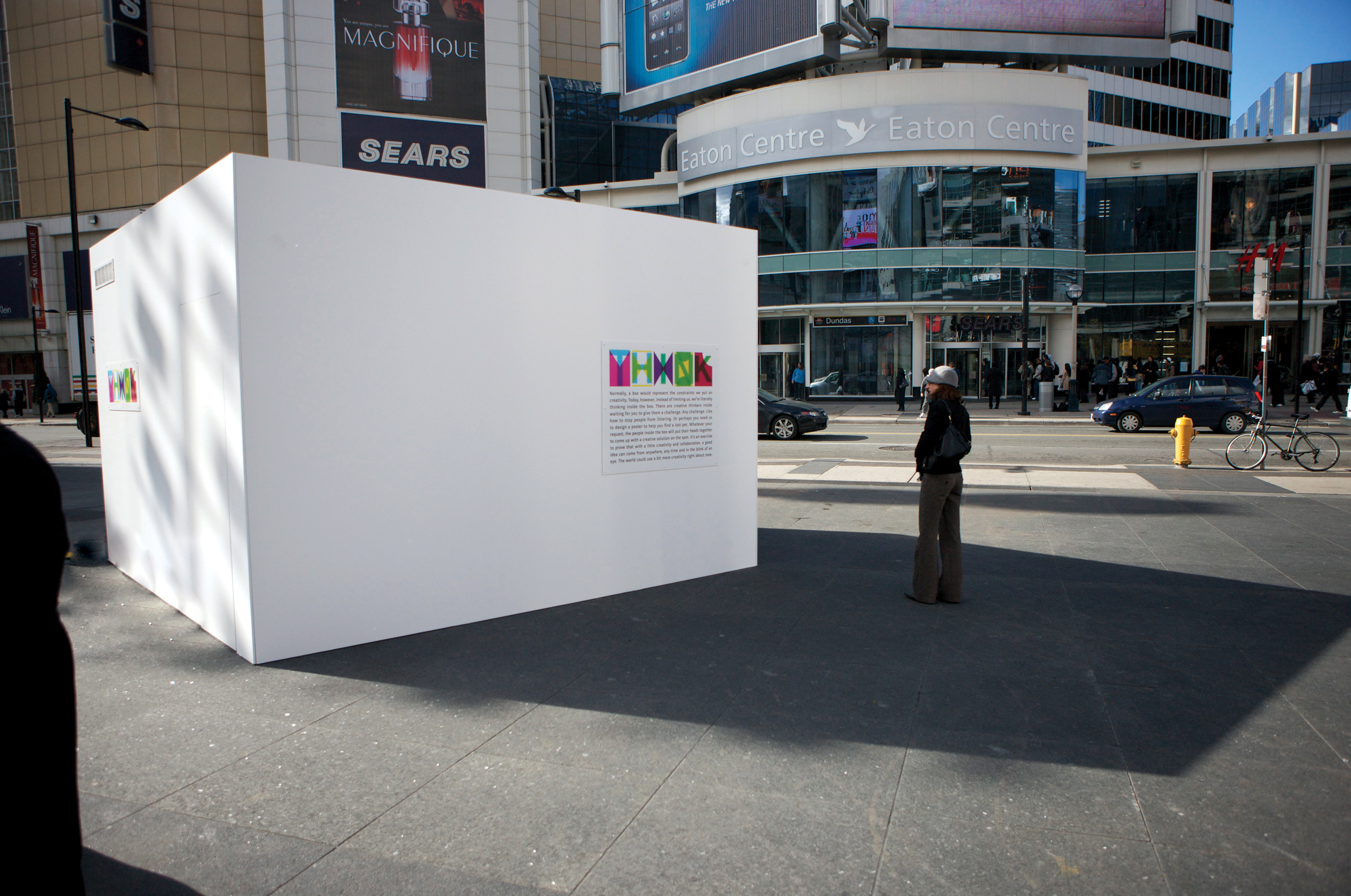 To launch his fledgling agency, Zak Mroueh dropped a box in the middle of Yonge-Dundas Square and asked passersby to pose any creative challenge. Inside, the team was tasked with dreaming up unique solutions in a 20-minute set time limit.