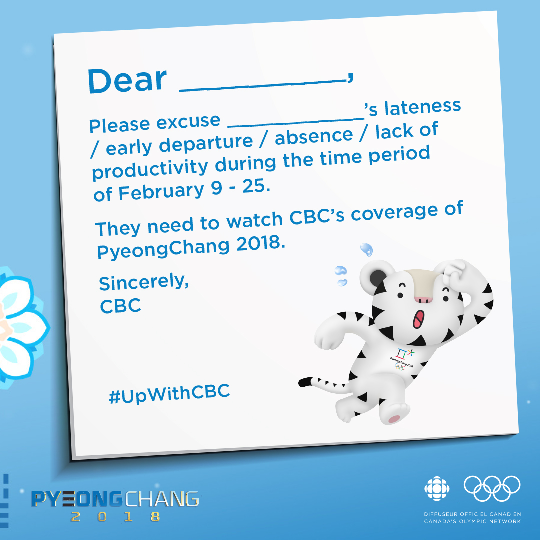 cbc invites olympics fans to stay up late » strategy