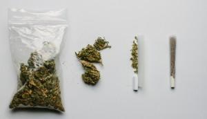 Medicinal Cannabis In A Plastic Bag And In A Cigarette - Alternative Medicine