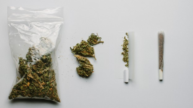Medicinal Cannabis In A Plastic Bag And In A Cigarette - Alternative Medicine