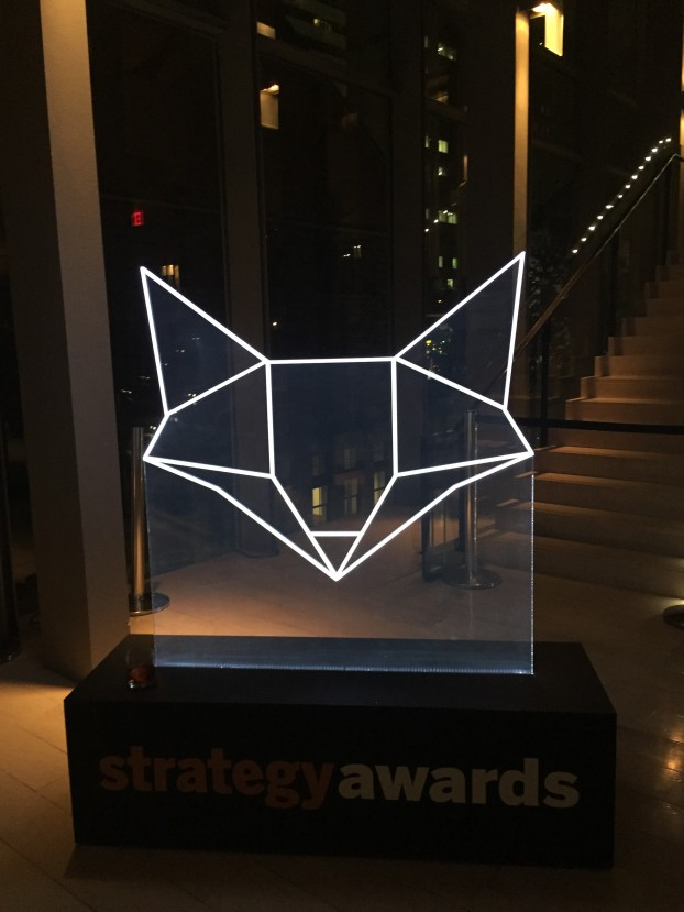 Strategy Awards sign